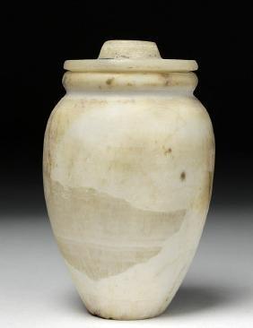Canaanite Marble Pyxis w/ Lid