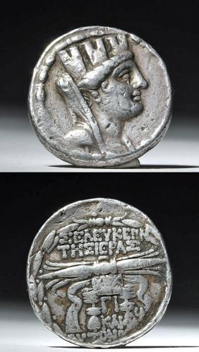 Kings of Syria Seleukis Silver Tetradrachm - 100 BCE