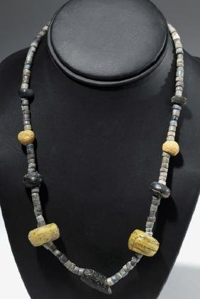Ancient Persian Glass & Stone Necklace