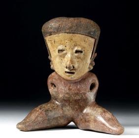 Very Fine Nayarit Chinesco Pottery Seated Figure