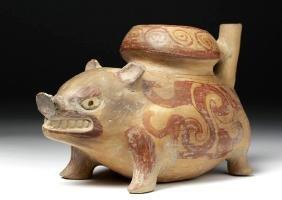 Pre-Columbian Huastec Pottery Javelina Vessel