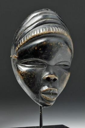 20th C. African Dan Wooden Passport Mask