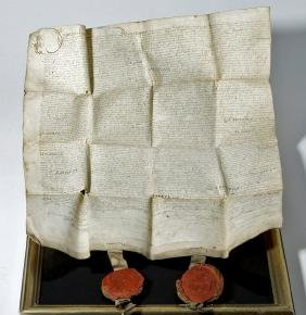 Scottish Sasine (Title) Dated 1610 with Two Seals