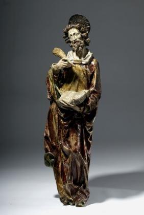 18th C. Spanish Colonial Wood Santo - An Evangelist
