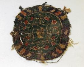 Coptic Egyptian Textile Polychrome Roundel