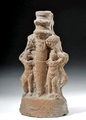 Romano-Egyptian Terracotta Statue - Twin Harpocrates