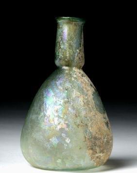 Ancient Roman Glass Unguentarium - Rainbow Iridescence