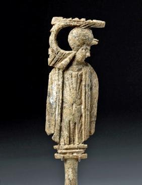 Roman Bone Figural Hairpin