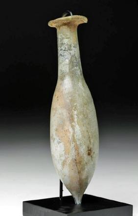 Roman Pale Green Glass Perfume Unguentarium