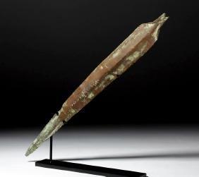 Long Luristan Bronze Sword Blade