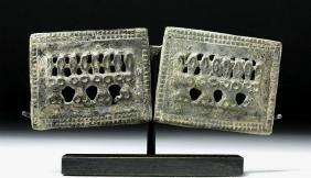 Scythian Bronze Openwork Animal Appliques (pr)