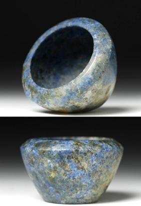 Ancient Bactrian Blue Lapis Stone Bowl