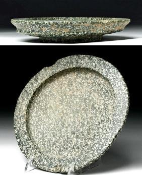 Central Asian Bactrian Diorite Stone Bowl