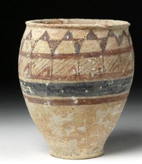 Ancient Central Asian Polychrome Decorated Beaker