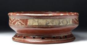 Chupicuaro Polychrome Pedestal Bowl