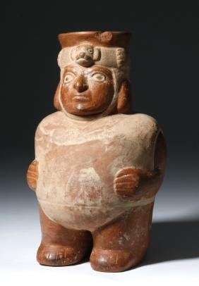 Moche Figural Pottery Jar in Human Form