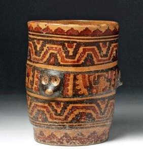 Mayan Pottery Cylinder - 3 Coatis + 3 Quetzalcoatl