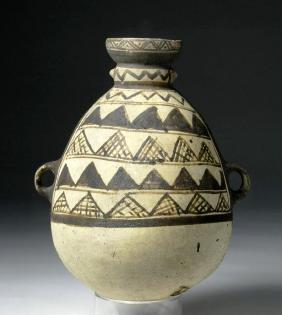 Chancay Bi-chrome Olla - Geometric Decoration