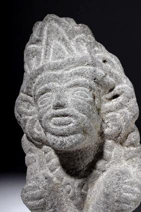 Aztec Seated Stone Deity (Macuilcoatl)