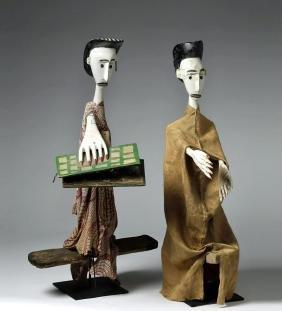 Published Pair Bamana Sogo Bo Marionette Puppets