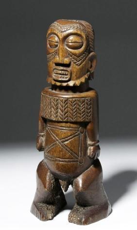 Large 19th C. Polynesian Bone Fetish or Pou