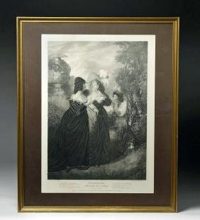 18th C. English Engraving, Shakespeare Scene by Peters