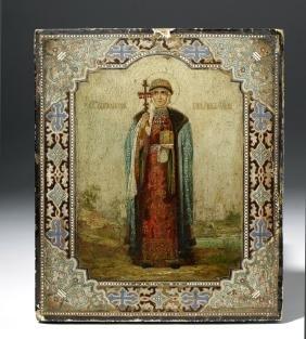 19th C. Russian Icon - Saint Olga of Kiev