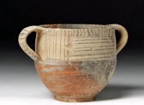 Greek Mycenaean Decorated Terracotta Cup