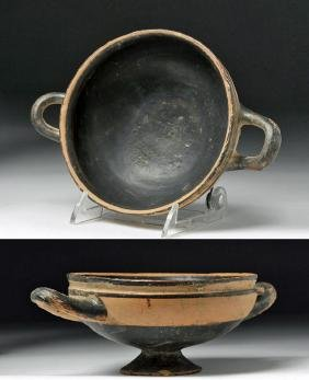 Greek Ionian Bi-Chrome Pottery Kylix