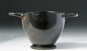 Greek Attic Blackware Skyphos
