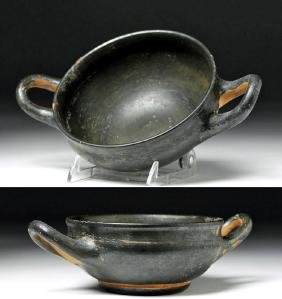 Greek Blackware Skyphos - Beautiful Iridescence!