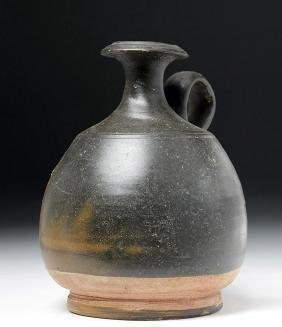 Greek Campanian Blackware Pouring Vessel