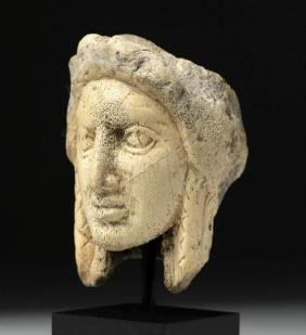Roman Bone Carving of a Woman's Head