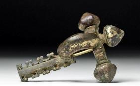 Fine Roman Gilded Bronze Military Fibula