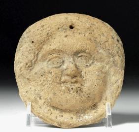 Roman Terracotta Face of Minerva