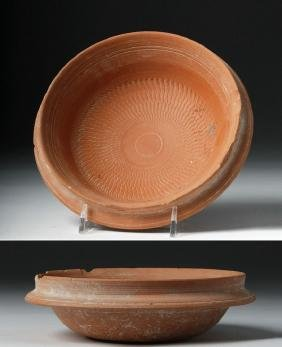 Roman Red Ware Bowl w/ Molded Pattern