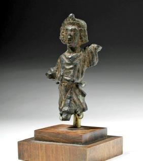 Roman Bronze Statuette of God Lar - Household God