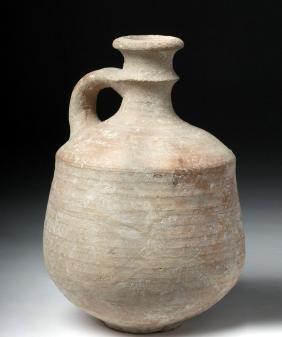 Roman Wheel-Thrown Pottery Vessel