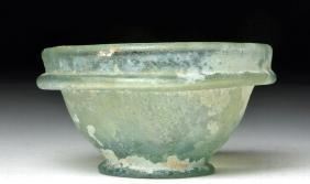 Roman Green Glass Patella Bowl