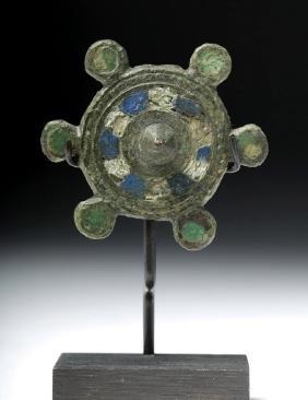 Romano-British Bronze Circular Plate Fibula Brooch