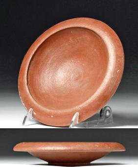 Roman North African Terracotta Redware Plate
