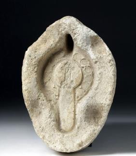 Roman / North African Gypsum Oil Lamp Mold