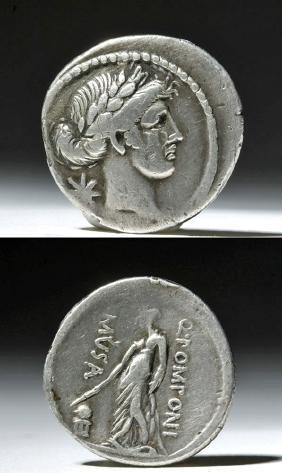 Roman Republic Silver Stater - Q Pomoni