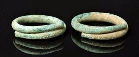 Lovely Pair of Luristan Bronze Bracelets