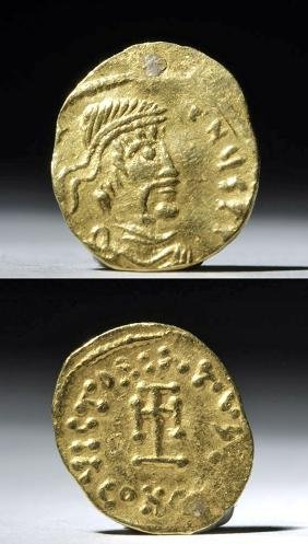 Byzantine Gold Tremissis Coin - Constantine IV