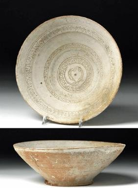 Byzantine Decorated Terracotta Bowl