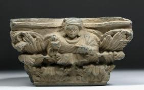 Gandharan Schist Carving - Indo-Corinthian Capital