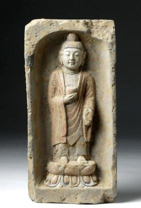 Chinese Song Dynasty Wall Tile - Buddha