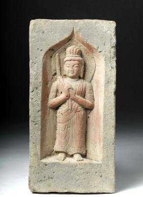 Chinese Song Dynasty Terracotta Wall Tile