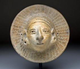 La Tolita Terracotta Mask w/ Human Face, ex-Arnovick